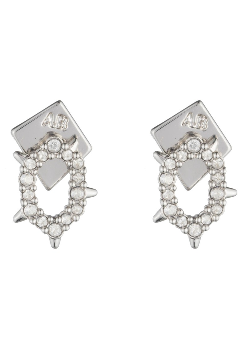 Alexis Bittar Alexia Bittar Essentials Crystal Encrusted Spike Earrings