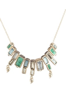 Alexis Bittar Articulated Baguette Molten Metal Necklace