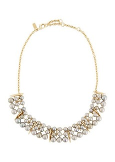 Alexis Bittar Articulating Pearly Collar Spear Necklace