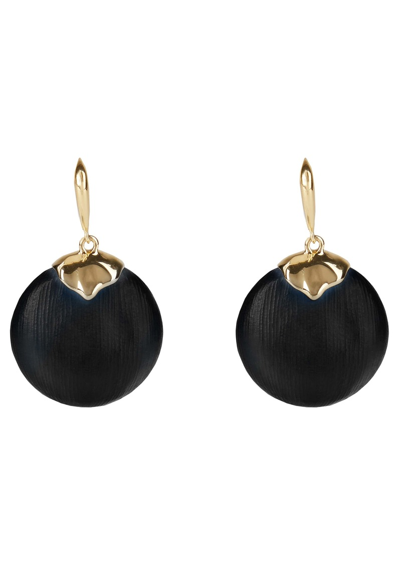 Alexis Bittar Asteria Nova Crumpled Metal Circle Drop Earrings