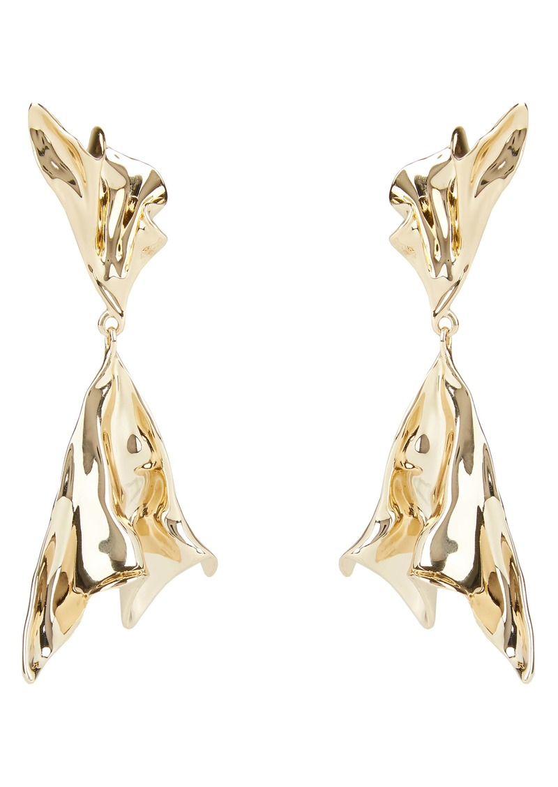 Alexis Bittar Asteria Nova Crumpled Metal Ruffle Drop Earrings