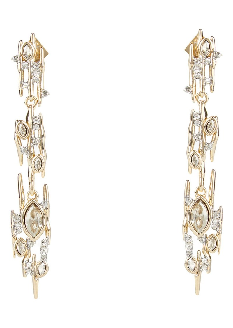 Alexis Bittar Asteria Nova Navette Crystal Linear Spike Drop Earrings
