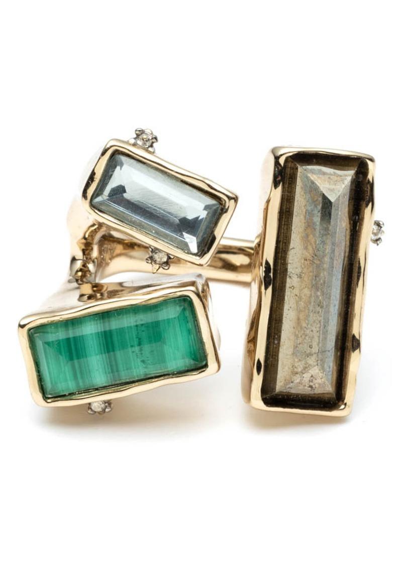 Alexis Bittar Baguette Stone Cluster Molten Metal Ring