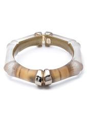 Alexis Bittar Bamboo Carved Hinge Bracelet