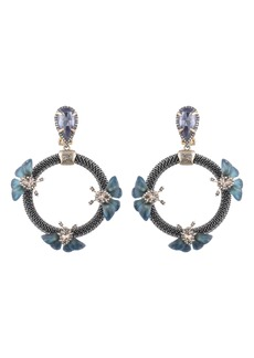 Alexis Bittar Brutalist Butterfly Clip-On Drop Earrings