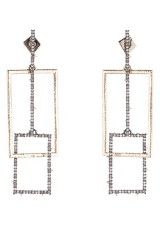Alexis Bittar Brutalist Butterfly Crystal Encrusted Linear Earrings