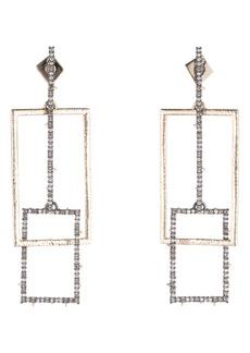Alexis Bittar Brutalist Butterfly Crystal Encrusted Linear Earrings