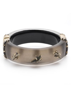 Alexis Bittar Brutalist Butterfly Triple Stone Studded Hinge Bangle