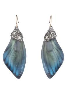 Alexis Bittar Brutalist Butterfly Wing Drop Earrings