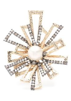 Alexis Bittar Brutalist Imitation Pearl Ring