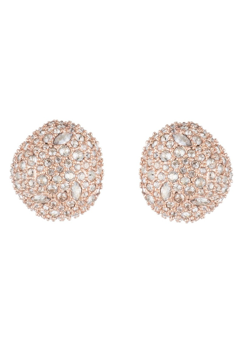 Alexis Bittar Button Post Crystal Stud Earrings