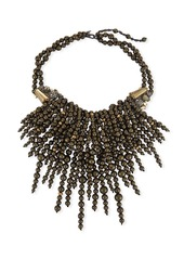 Alexis Bittar Cascading Pearly Pyrite Statement Necklace