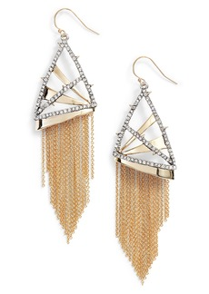 Alexis Bittar Chain Fringe Earrings