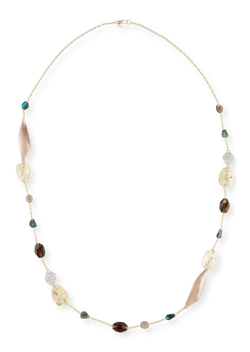 Alexis Bittar Chocolate Crystal Station Necklace
