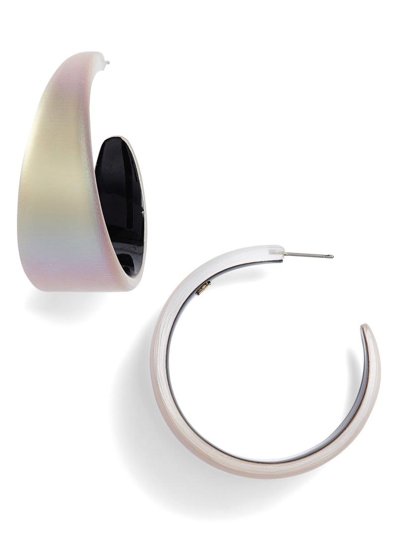 Alexis Bittar Chunky Lucite® Hoop Earrings