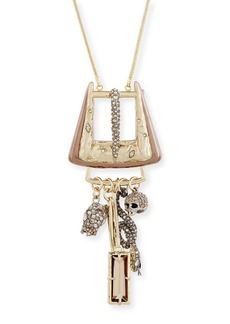Alexis Bittar Convertible Pin to Pendant Buckle with Chain