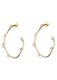 Alexis Bittar Coveter Navette Crystal Hoop Earrings