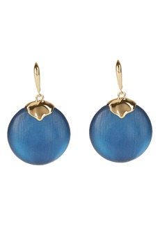 Alexis Bittar Crumpled Circle Drop Earrings