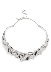 Alexis Bittar Crumpled Collar Necklace