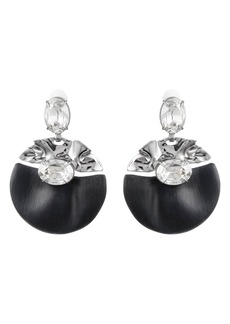 Alexis Bittar Crumpled Crystal Studded Clip-On Earrings