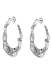 Alexis Bittar Crumpled Hoop Earrings