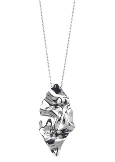 Alexis Bittar Crumpled Metal Long Pendant Necklace