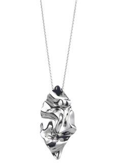 Alexis Bittar Crumpled Metal Long Pendant Necklace