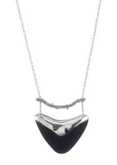 """Alexis Bittar Crystal Accented Bar & Shield Pendant Necklace, 16"""""""