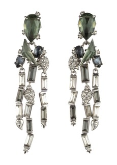 Alexis Bittar Crystal Baguette Fringe Earrings