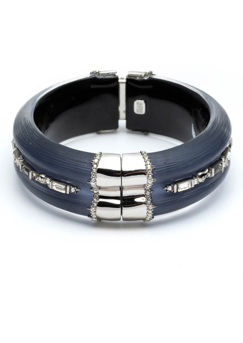 Alexis Bittar Crystal Baguette Hinge Bracelet