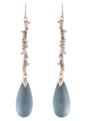 Alexis Bittar Crystal Baguette Linear Drop Earrings