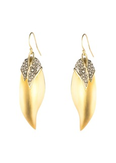 Alexis Bittar Crystal Capped Feather Earrings