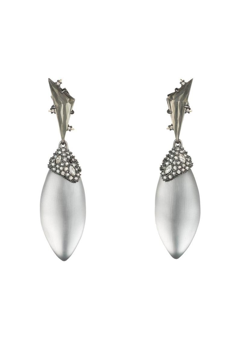 Alexis Bittar Crystal Cluster Ovoid Drop Earrings