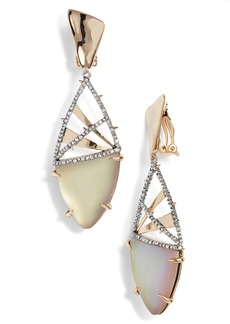 Alexis Bittar Crystal Crosshatch Lucite® Earrings