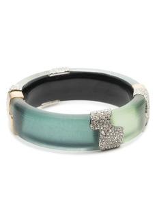 Alexis Bittar Crystal Embellished Color Block Hinge Bracelet