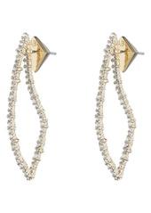 Alexis Bittar Crystal Encrusted Abstract Thorn Drop Earrings