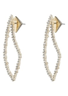 Alexis Bittar Crystal Encrusted Abstract Thorn Drop Earrings