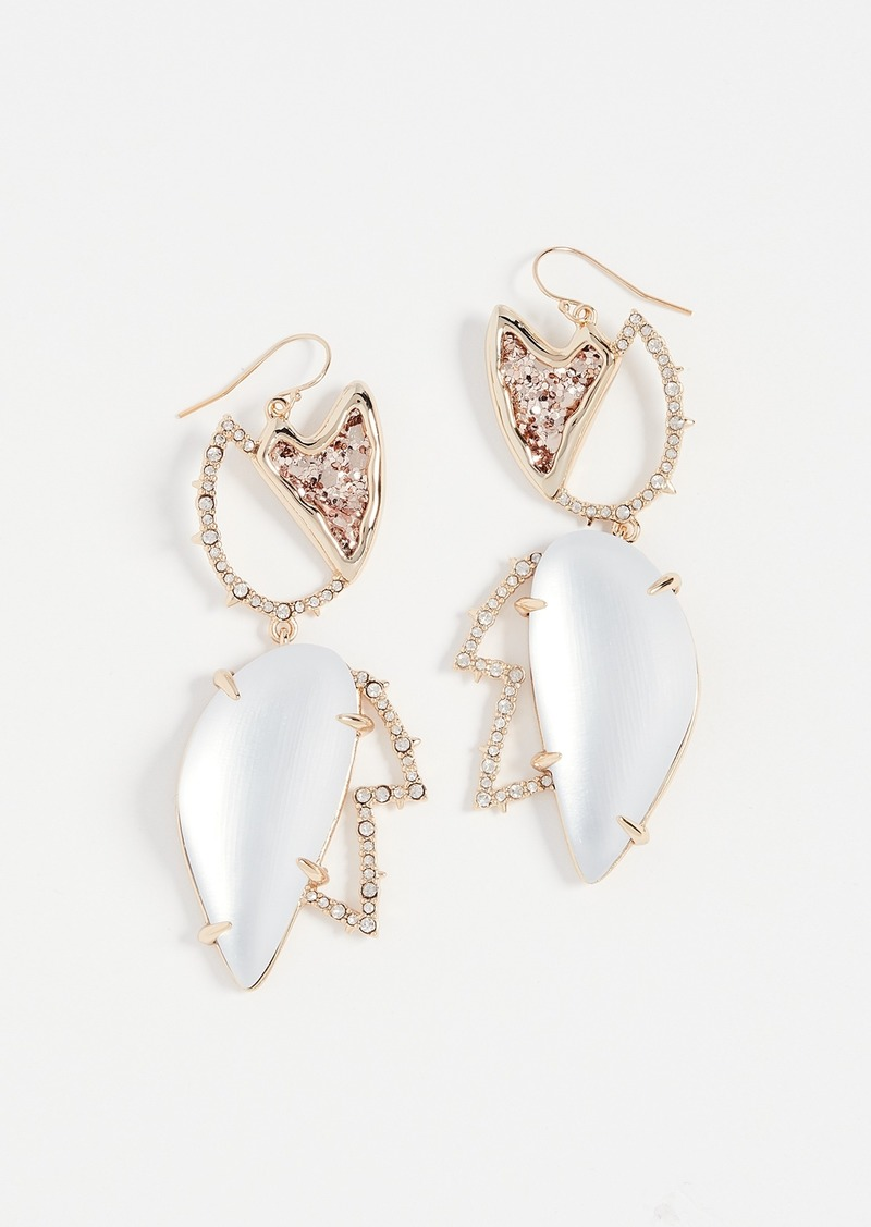 Alexis Bittar Crystal Encrusted Abstract Tulip Earrings