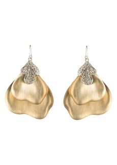 Alexis Bittar Crystal Encrusted Abstrast Earrings