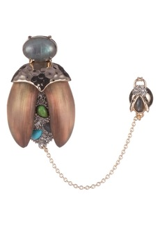 Alexis Bittar Crystal Encrusted Baby Scarab Pin