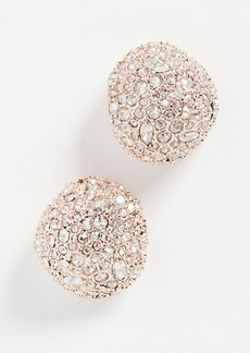 Alexis Bittar Crystal Encrusted Button Stud Earrings