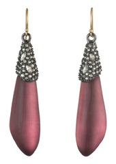 Alexis Bittar Crystal Encrusted Cap Drop Earrings