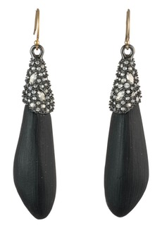Alexis Bittar Crystal Encrusted Cap Drop Earrings