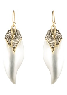 Alexis Bittar Crystal Encrusted Capped Feather Earrings