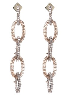 Alexis Bittar Crystal Encrusted Chain Drop Earrings