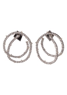 Alexis Bittar Crystal Encrusted Coil Link Earrings