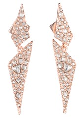 Alexis Bittar Crystal Encrusted Dangling Drop Earrings