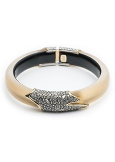 Alexis Bittar Crystal Encrusted Feather Hinge Bracelet