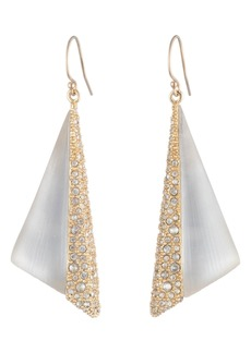 Alexis Bittar Crystal Encrusted Futurist Drop Earrings