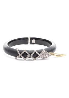 Alexis Bittar Crystal Encrusted Hinge Bracelet